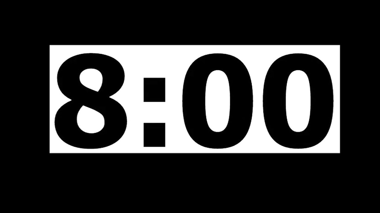8 minute countdown timer with alarm