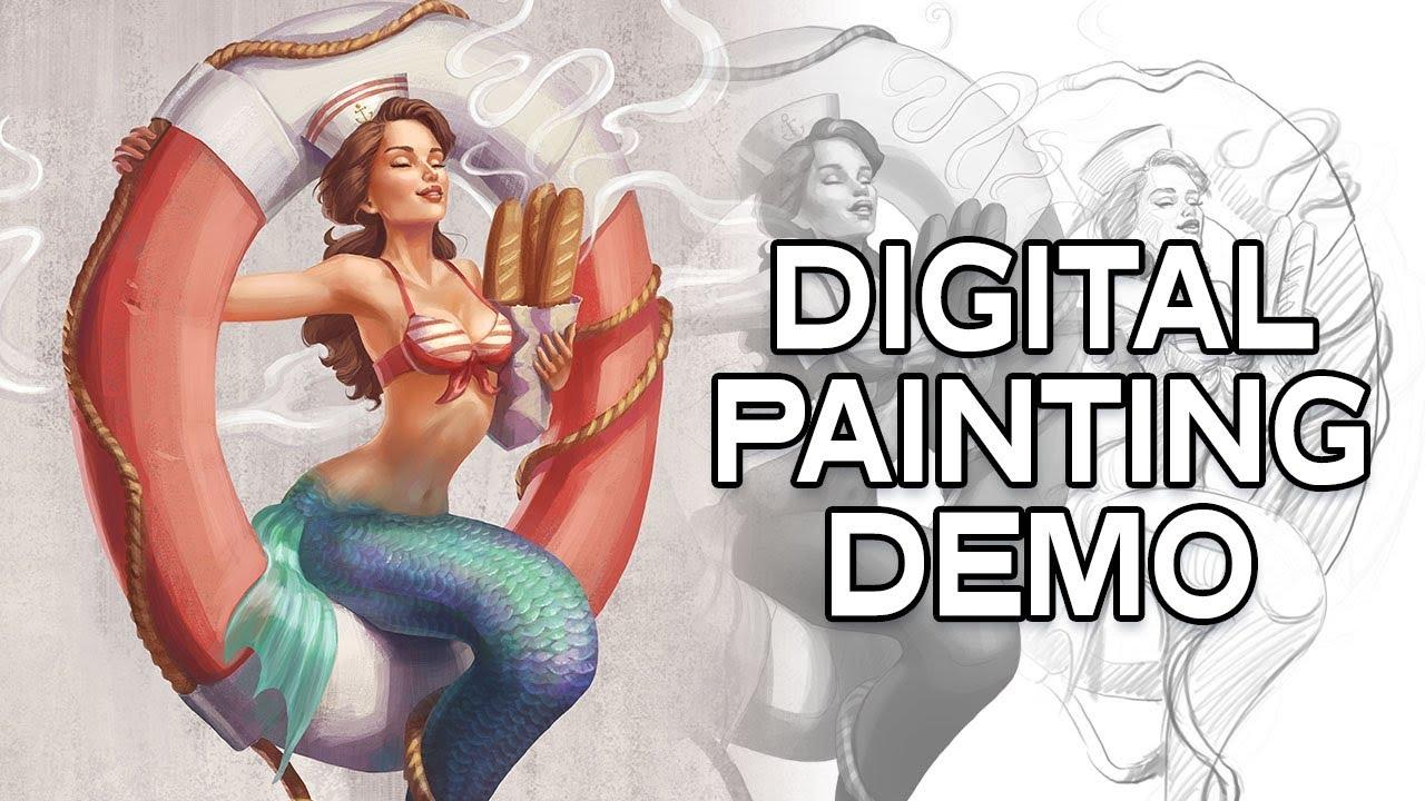 Digital Painting Mermaid Walkthrough
