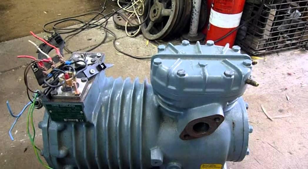 3 Phase Air Compressor Wiring Diagram Dwm Copeland Semi Hermetic Compressor Testing Youtube