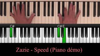 Zazie - Speed (Piano cover tutoriel)
