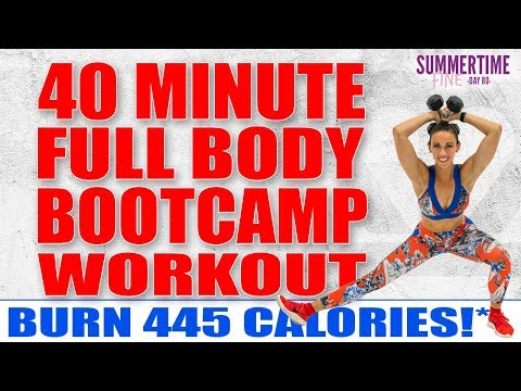 40 Minute Full Body Bootcamp Workout 🔥Burn 445 Calories!* 🔥Sydney Cummings