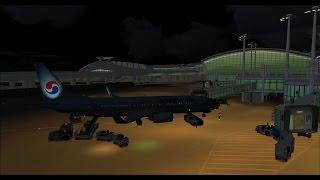Korean air 1423 RKSI-RKPC on vatsim event soft landing,fsx,pmdg 737ngx