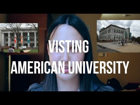 COLLEGE ADMISSIONS PROCESS | Vlog #9: Visiting American University