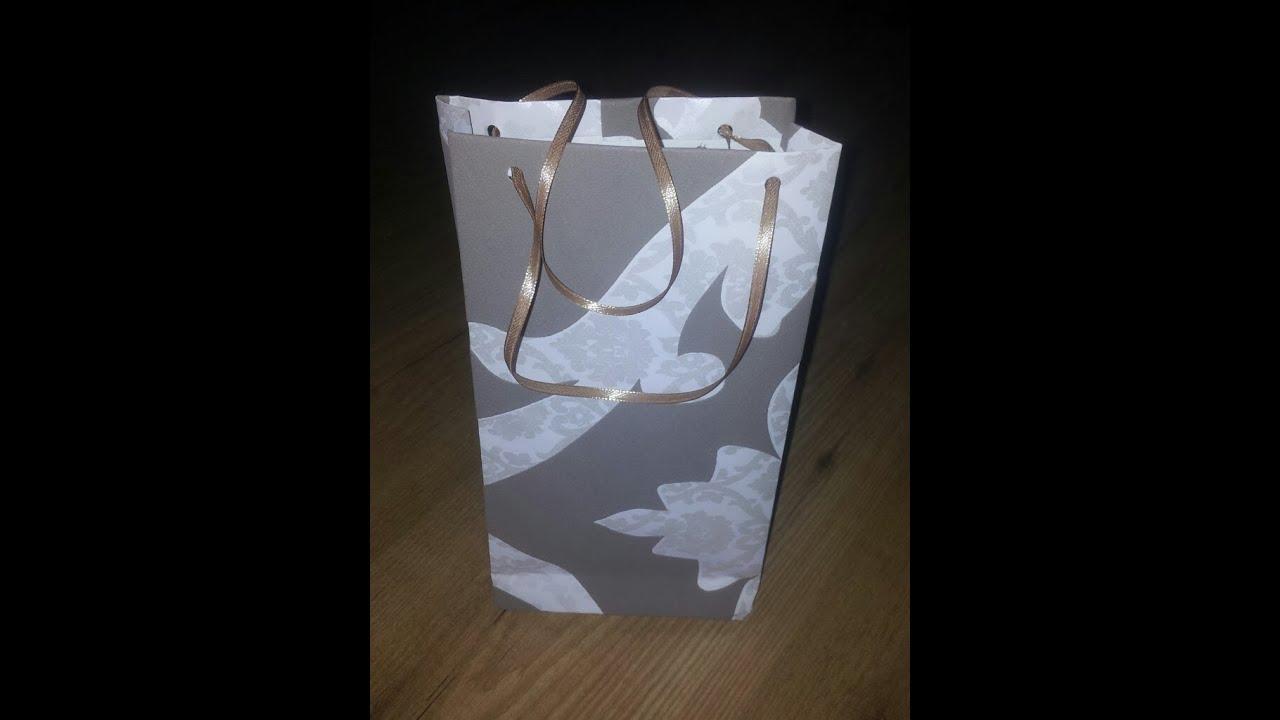 C mo hacer una bolsa de regalo con papel diy - Hacer bolsas de papel en casa ...