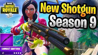 New Season 9 Gameplay With New Combat Shotgun New Fortnite Gun (Pump is Vaulted)