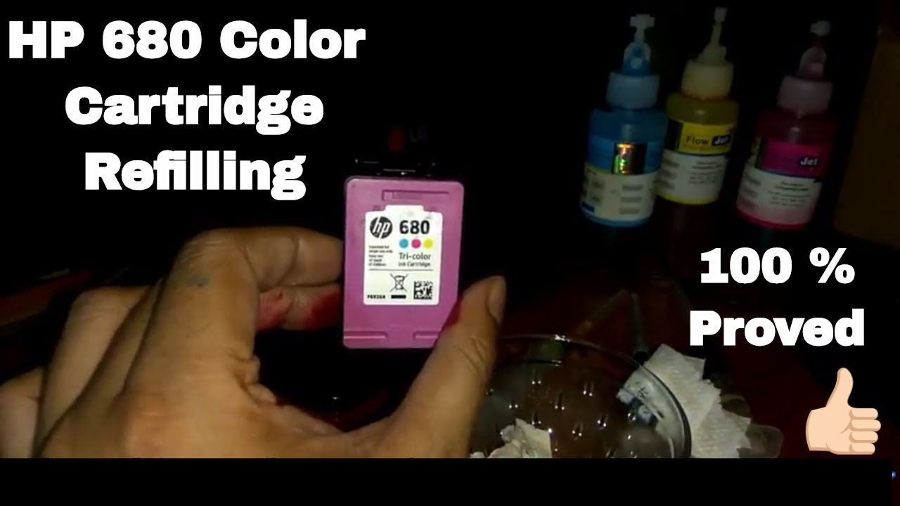 HP 680 Color Cartridge Refill with 100% Successful [Proved]