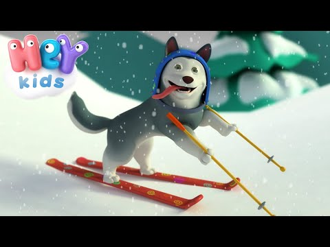 HeyKids – Ten New Puppies  Songs With Numbers For Kids | HeyKids – Nursery Rhymes – Cantece pentru copii in limba engleza