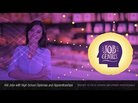 Hot Jobs with High School Diplomas and Apprenticeships