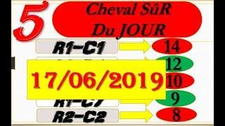 PRONOSTIC PMU Quinté+ meilleurs 5 CHEVAUX du JOUR LUNDI 17 JUIN 2019