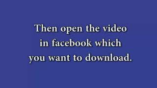 Chrome Extension for Downloading Facebook Videos