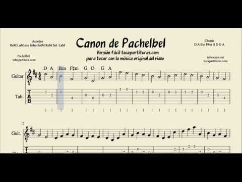 Pachelbel's Canon Tabs Sheet Music for Guitar in D Major ...