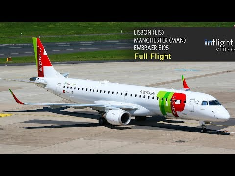 TAP Portugal (TAP Express)  Full Flight Trip Report: Lisbon to Manchester (Embraer E195) - with map