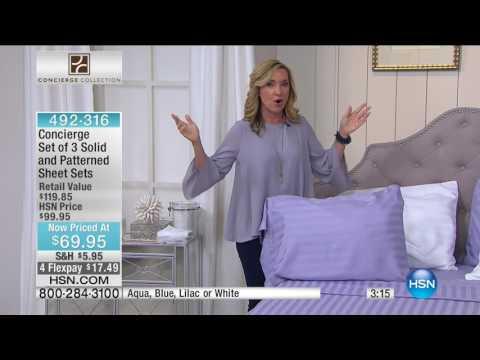 HSN   Concierge Collection Bedding 03.26.2017 - 06 AM