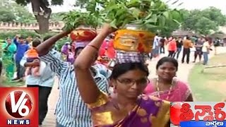 Bonalu Festival Closing Ceremony at Golkonda | Teenmaar News - V6 News