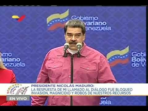 Presidente Maduro declara tras votar en las elecciones parlamentarias 2020 6-D
