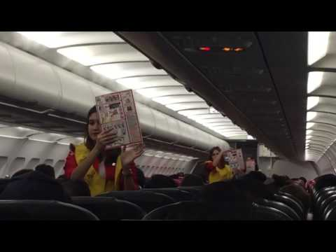 Safety Demonstration of Air Asia | Trip ni Rey