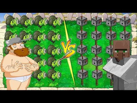 Plants vs Zombies PvZ vs Plants vs Zombies Minecraft PvZ