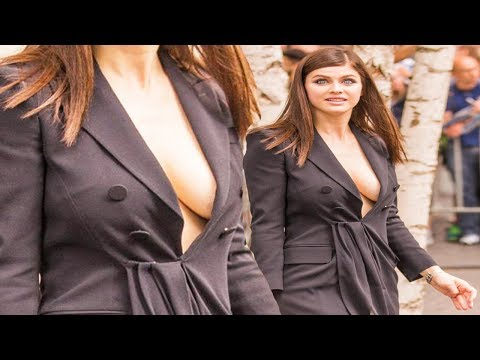 Alexandra Daddario GOES Braless At Baywatch Premiere