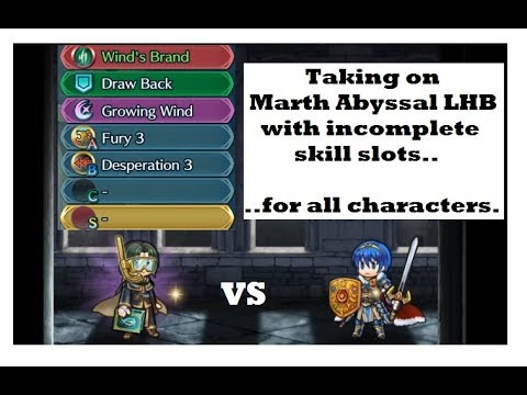 FEH: Abyssal Marth LHB VS Characters With Missing Skills