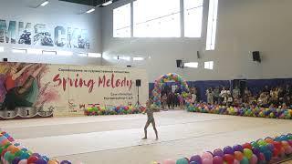 Художественная гимнастика дети выступает Елена Зимина