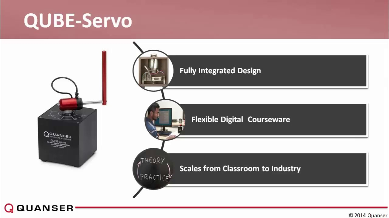 Innovate Controls Education with the Quanser QUBE-Servo and