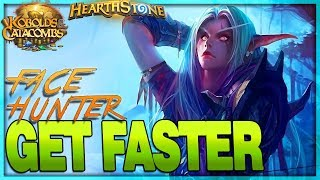 [HEARTHSTONE] TOO FAST TO CATCH -  Face Aggro Hunter Deck Guide & Gameplay 🌟 Kobolds Catacombs