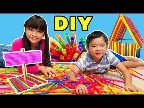 บรีแอนน่า   จินตนาการจากหลอดดูด ศิลปะสำหรับเด็กเจ๋งๆ   DIY By บรีแอนน่าและครอบครัว