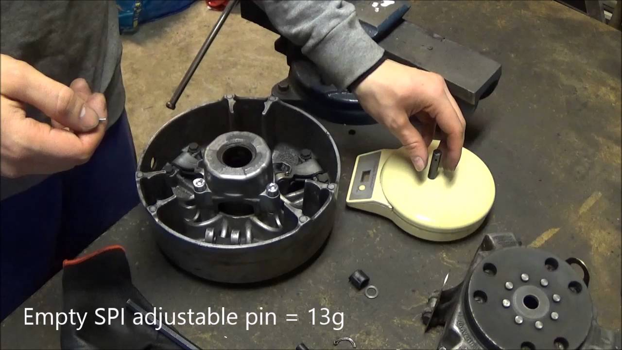 Changing Tra 3 Primary Clutch Weight Pins  On The Ski-doo Rev Mod  Lws Ep 1