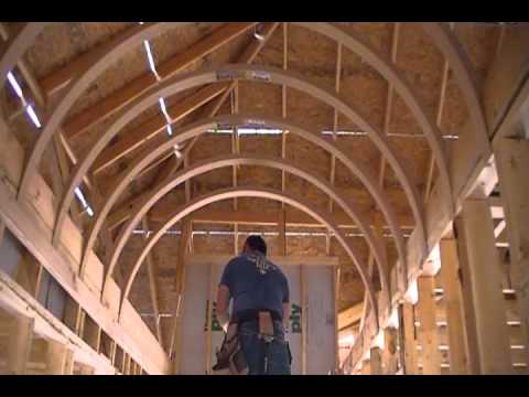 How to Build A Barrel Vault Ceiling Efficiently, Affordably and Perfectly - YouTube