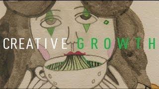 Creative Growth - Aurie Ramirez - Pin Stripe Soup