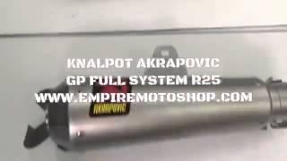 Akrapovic Kawasaki Ninja 250 Fi Z250 Yamaha R25