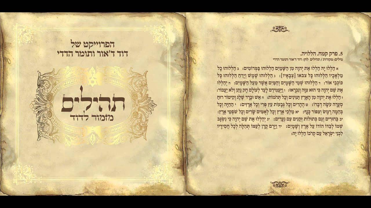 דוד ד'אור ותומר הדדי - הללויה - מתוך שירת רבים 3 תהילים