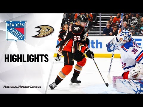 NHL Highlights   Rangers @ Ducks 12/14/19