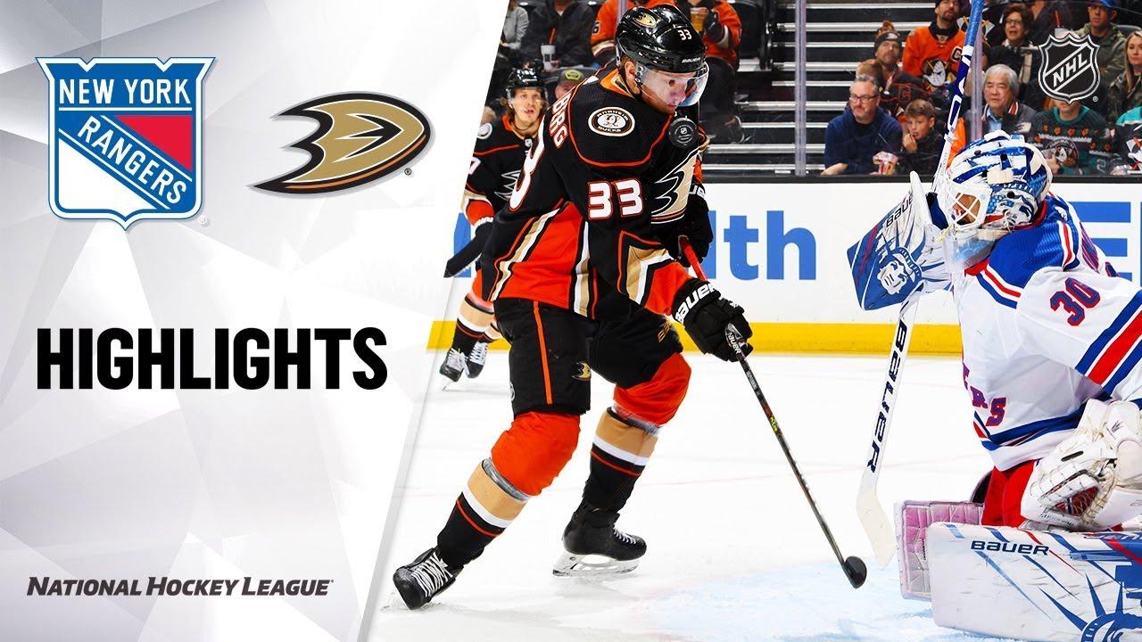Nhl Highlights Rangers Ducks 12 14 19 Youtube