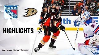 NHL Highlights | Rangers @ Ducks 12/14/19