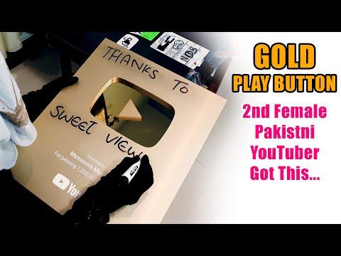Pakistani 1st Ba Parda (Hijabi) Woman Got Gold Play Button From Youtube - Memoona Muslima Vlog # 3