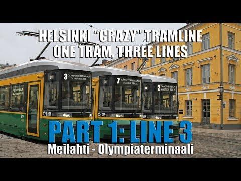 "Helsinki ""Crazy"" Tramline. One tram, Three lines. PART 1 - Line 3"