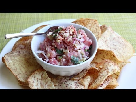 Spicy Coconut Cashew Tuna Tartare Recipe -- How To Make Tuna Tartare