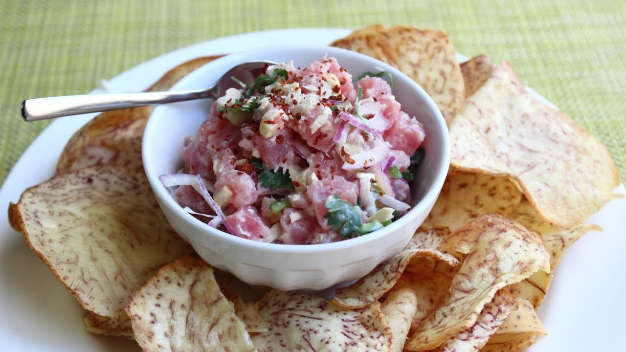 Spicy Coconut Cashew Tuna Tartare Recipe -- How to Make Tuna Tartare