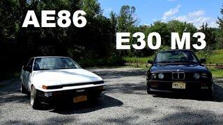 Retro Icons: BMW E30 M3 meets Toyota AE86