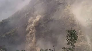 Footage from Tibet of the moment a massive earthquake struck Nepal and the Himalayas