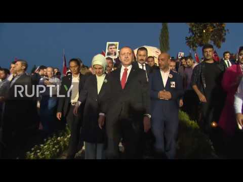 Turkey: Erdogan joins huge crowds at National Unity March in  Istanbul