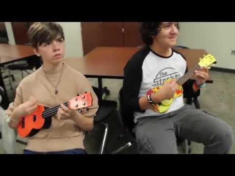 Rockin' the ukulele