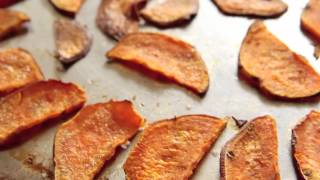 Baked Sweet Potato Chips Recipe (10.2.12 - Day 51) Vegan Healthy Snack
