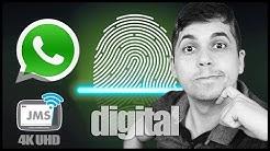 Whatsapp Como ATIVAR o Bloqueio por Impressão Digital no Whats - CanalJMS