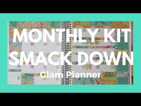 MONTHLY KIT SMACK DOWN // Glam Planner // part 3 - Comparing Kits!