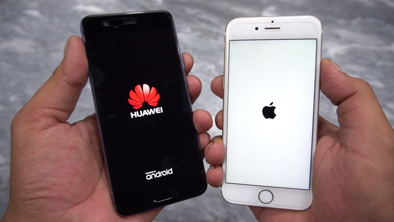 huawei p10 vs iphone 6s speed test urduhindi youtube