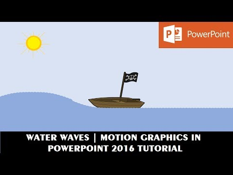 Water Waves Animation In PowerPoint 2016 | Motion Graphics Tutorial