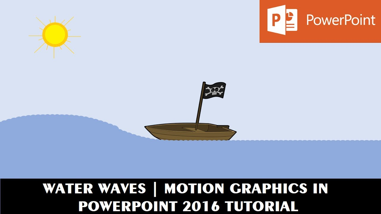 water waves effect motion graphics in powerpoint 2016 tutorial