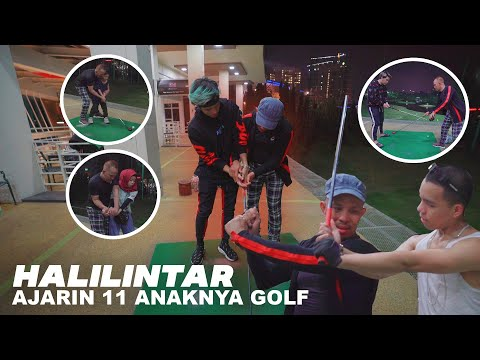 Pak Halilintar - Junior Golf Champion Ajari Istri &,11 Anakn